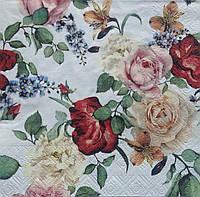 Салфетка для декупажа с розами (33*33 см.)