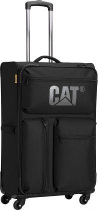 Вместительный дорожный 4-х колесный чемодан 79 л CAT (Caterpillar) Cube 83271;01 черный