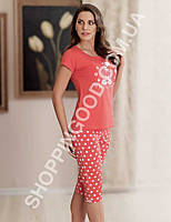 Домашний костюм Mel Bee (Sahinler) 22710 футболка и капри (бриджи)