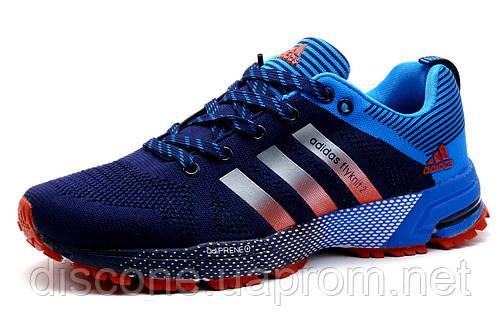Кроссовки мужские Adidas Flyknit2, синие,р.43
