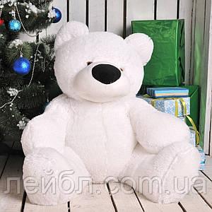 М'який білий плюшевий ведмедик 110 см