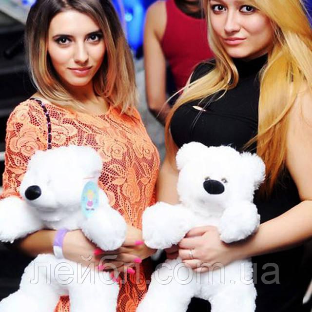 Плюшевий ведмедик Бублик білий 55 см