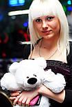 Плюшевый белый мишка 45 см, фото 9