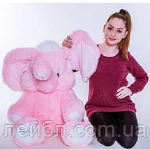 Слон – великий рожевий слон 120 см, фото 2