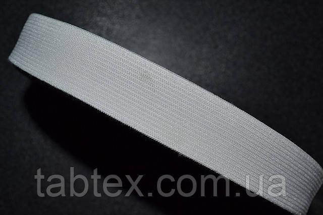 Трикотажна гумка 40мм.біла (25м) (китай)