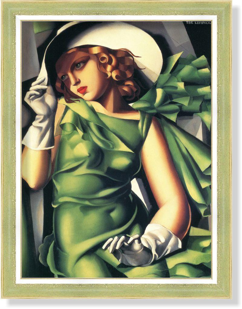 Репродукция картины Т.де Лемпицки «Девушка в перчатках» 45 х 60 см 1930 г.