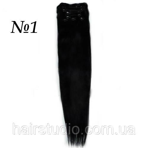 Волосы на заколках 76 см оттенок №1