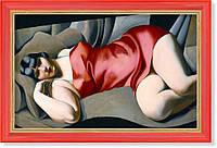 Репродукция картины Т.де Лемпицки «В розовом хитоне» 40 х 65 см 1927 г.