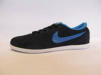 Кроссовки  Nike замшевые,синие с голубым унисекс(найк)(р.36,39)