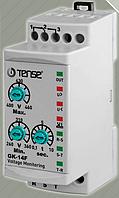 Реле напряжения 3-х фазные с таймером задержки, реле контроля перенапряжения цена купить TENSE