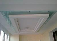 Стеклянный потолок с подсветкой на заказ. Киев.