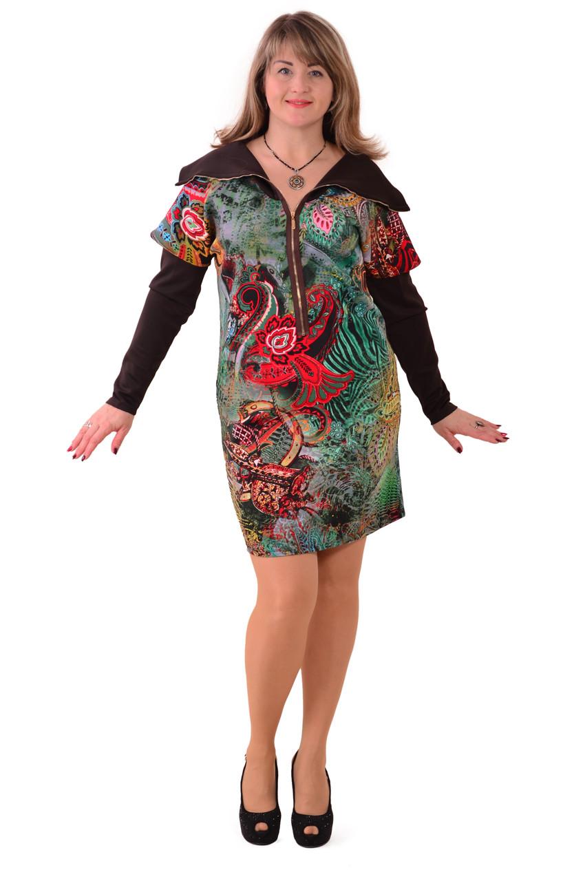Платье баллон , цветное Пл 176 , рукава на кнопках.