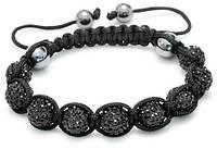 Браслет ШАМБАЛА ПАНТЕРА ювелирная бижутерия декор кристаллы Swarovski