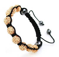 Браслет ШАМБАЛА Gold ювелирная бижутерия декор кристаллы Swarovski