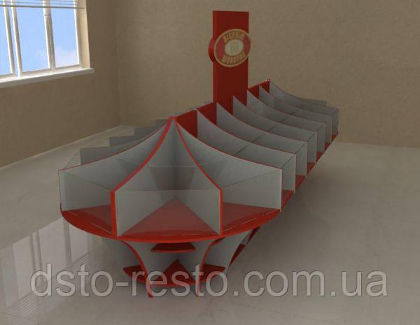 Выставочные стойки для кондитерских изделий (накопители)