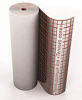 Полотно ламинированное фольгой 3 мм с разметкой для тёплого пола