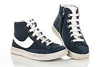 Кроссовки синие белый шнурок 28 рзм. (М)