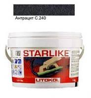 Litokol Starlike C.240 ведро 1 кг (антрацит), эпоксидная двухкомпонентная затирка Старлайк Литокол