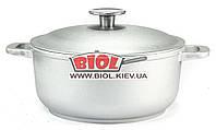 Кастрюля алюминиевая 2л с утолщенным дном и крышкой БИОЛ K201