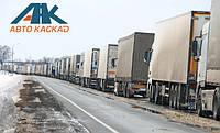 Фуры выстроились в очередь на белорусско-литовской границе
