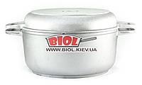 Кастрюля алюминиевая 4л с утолщенным дном и крышкой сковородкой БИОЛ К402