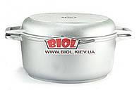Кастрюля алюминиевая 5л с утолщенным дном и крышкой сковородкой БИОЛ К502