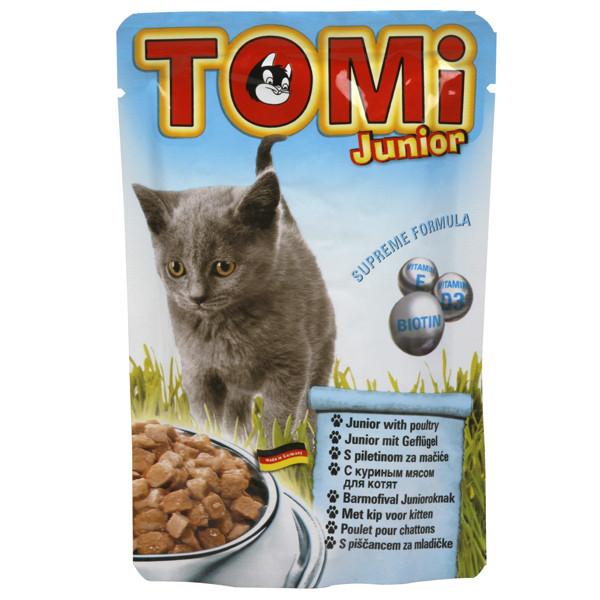 TOMi junior ДЛЯ КОТЯТ консервы для котят, влажный корм, пауч