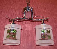 Люстра на 2 лампочки для низких потолков CR (хром)  P3-016KN/2/CR+GN (4шт. - ящ.)