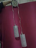 Люстра на 2 лампочки для высоких потолков CR (хром)  P3-A4005/2P/CR+WT (4шт. - ящ.)