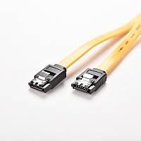Шлейф ( датакабель, сигнальный кабель) sata 3 с защелками 40 см, фото 1