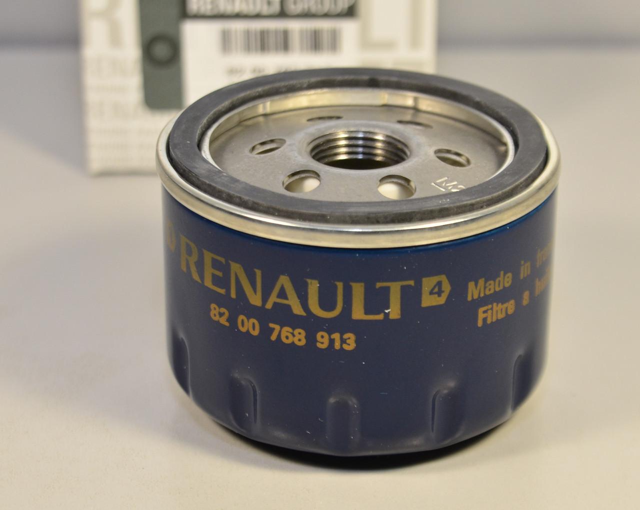 Фільтр масла на Renault Kangoo 1997->2008 1.5 dCi, 1.9 dCi 1.4, 1.6 i 16V — RENAULT (Оригінал) - 8200768913
