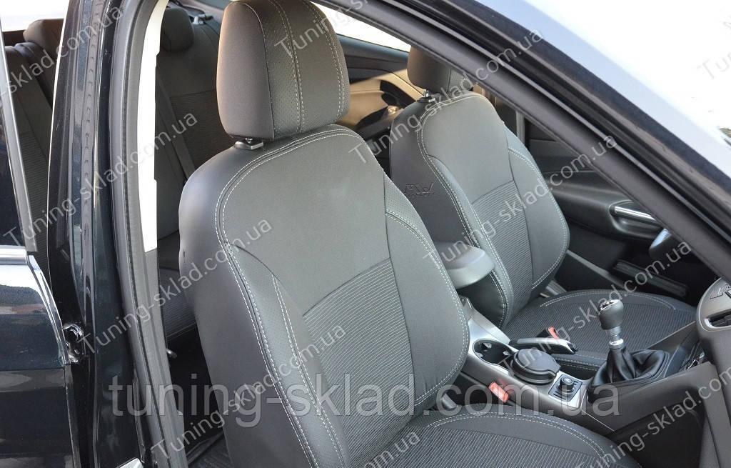 Чехлы на сиденья Форд Куга 2 (чехлы из экокожи Ford Kuga 2 стиль Premium)