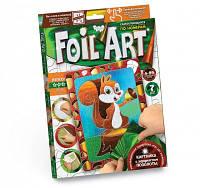Аппликация цветной фольгой FOIL ART по номерам Белочка