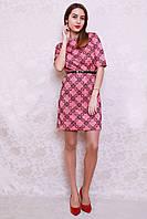 Оригинальное молодежное платье в абстрактный принт