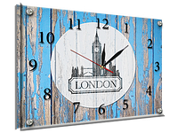 Часы под стеклом 30 х 40 см