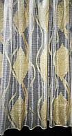 Тюль органза горизонтальная полоска с рисунком, фото 1
