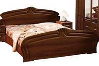 Кровать с ламелями + тумбы прикроватные Антонина орех лак 160 Распродажа Днепр