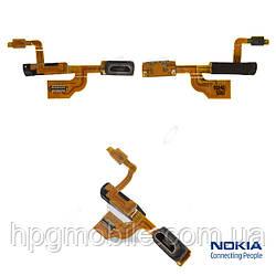 Шлейф для Nokia Lumia 925, коннектора зарядки, коннектора наушников, с компонентами, оригинал