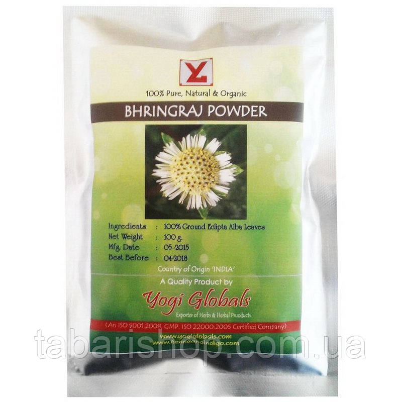 Брингарадж порошок, Эклипта белая, Bhringraj powder, 100 гр