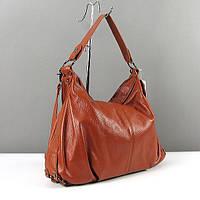 Коричневая сумка-багет из натуральной кожи, фото 1