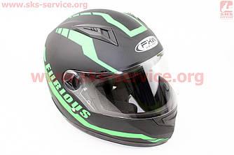 Шлем закрытый HF-111 M- ЧЕРНЫЙ матовый