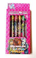 """Набор гелевых ручек. Ручки с блестками, цветные в коробке 6 цветов """"Монстер Хай"""" Monster High арт. 809-6"""