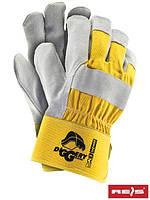 Защитные рукавицы (рабочие перчатки) упрочнённые скотиньей кожей DIGGERY YJS
