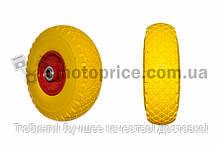 """Колесо   3,00 -4   TL   (бескамерное, под ось d-20мм )   """"ELIT""""   (желтое)"""
