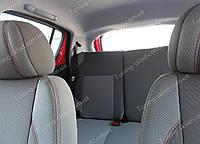 Чехлы на сиденья Джили Лс Крос (чехлы из экокожи Geely LC Cross стиль Premium)