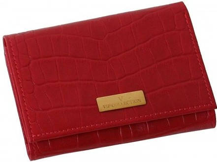 Красочный женский кошелек Vip Collection 53R croc красный