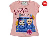 Красивая летняя футболка  для девочек 2, 4, 5 лет.Турция!!! 100 % хлопок!!Детская летняя одежда!