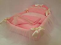 Кроватка Королевская розовая