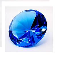 Кристалл синий, диаметр 8 см