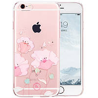 Чехол для iPhone 6/6S - Hoco Super star series (Swarovski diamond flower Corn Poppy)